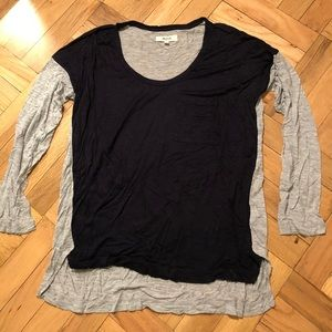 Madewell navy/gray long sleeve shirt